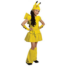 pikachu costume girls kids pokemon halloween fancy dress common