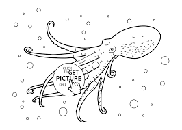 sea creatures coloring page octopus real sea animals gallery of art real animal coloring pages