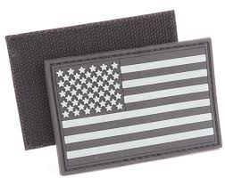 Black And White Us Flag Pvc 2