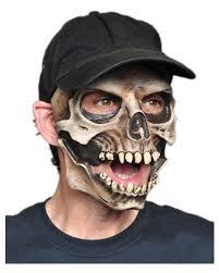 half skull mask halloween skull mask with baseball cap for halloween horror shop com