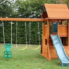 Backyard Swing Set Ideas Backyard Discovery Playsets Skyfort Ii Wooden Swing Set Amys Office