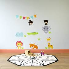 animal wall stickers jungle animal childrens wall stickers children s room accessories