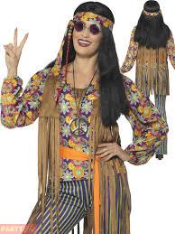 adults 60s 70s hippie costume mens ladies hippy fancy dress womens
