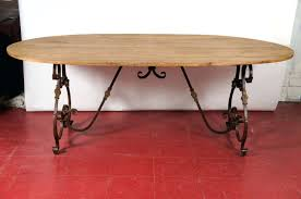 Dining Room Table Bases Metal Wrought Iron Dining Table Bases Dining Tables Oak Dining Table