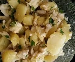 cuisiner de la morue salade de morue et pommes de terre recette de salade de morue et
