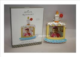 hallmark 2014 baby s birthday photo holder ornament qgo1053