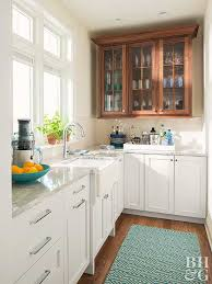mixing kitchen cabinet wood colors mixing kitchen cabinet materials better homes gardens