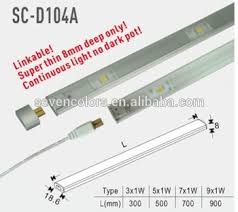 Thin Led Under Cabinet Lighting by Ultar Thin Linkable Led Under Cabinet Lighting 12v Dimmable Sc
