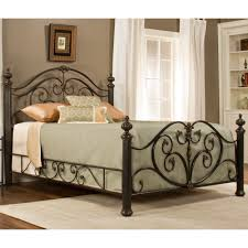 grand isle iron bed in brushed bronze by hillsdale humble abode