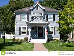 American House Flag All American Home Stock Image Image Of Green Exterior 10126733