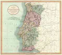 Large Vintage World Map by A New Map Of The Kingdom Of Portugal Divided Into Its Provinces