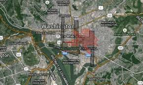 big washington dc map how big are dulles and bwi airports these maps give you an idea