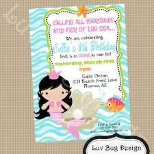 little mermaid birthday invitation wording alanarasbach com