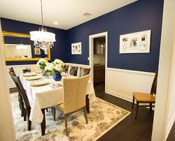 A Touch Of Blue Formal Dining Room Transitional Dining Room - Navy blue dining room