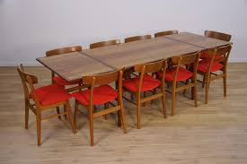 Set Of Teak Dining Table Dining Tables Danish Modern Teak Dining Table Vintage Danish