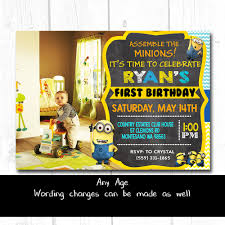 make your own personalized minion birthday invitations designs