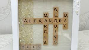 Unique Wedding Gifts How To Make A Unique Wedding Gift Scrabble Art Diy Crafts