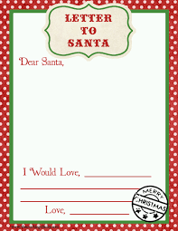 letter to santa free printable download