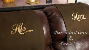 leather sofa arm covers headrest covers by stitch n art youtube