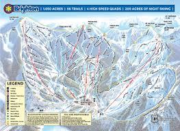 Salt Lake City Map Brighton Utah Us Ski Resort Guide