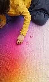 color spectrum puzzle a giant new 5 000 piece cmyk color gamut jigsaw puzzle by clemens