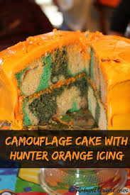 camoflauge cake camouflage cake with orange icing robyns world
