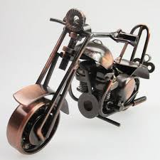 made retro metal welding motorcycle model miniature home