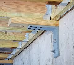 Metal Deck Bench Brackets - lateral bracing alternatives professional deck builder framing