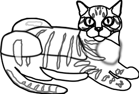 tabby cat ca black white line art coloring sheet colouring page