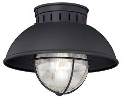 vaxcel lighting t0142 harwich outdoor ceiling light textured black beach style outdoor