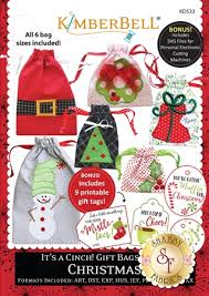 gift bags christmas it s a cinch gift bags volume 2 christmas machine embroidery cd