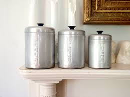 italian kitchen canisters italian metal kitchen canister set vintage storage by italian