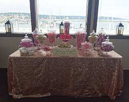 Pink Table L Linen Sequin