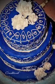 the royal blue u0026 silver wedding cake paperblog