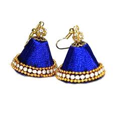 thread earrings designer silk thread earring at rs 240 pair silk thread
