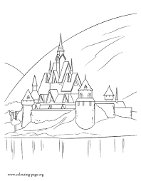 castle pictures color coloring