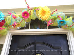 spring deco mesh garland southern charm wreaths