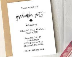 grad party invitations grad party invite etsy
