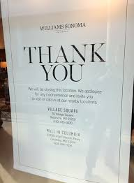 williams sonoma is closing its towson mall store baltimore sun