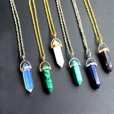 stone necklace pendants images Purple crystal geode quartz pendants chakra natural stone jpg