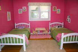 Apartments Lovely Shared Little Girls Bedroom Design With Small - Boys and girls bedroom ideas