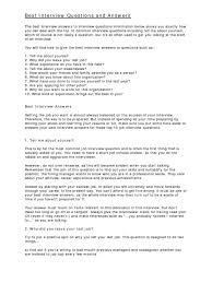 Best Resume Questions by Download 30 Best Employment Interview Questions And Answers