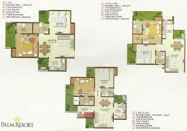 floor plan solanki infrastructures pvt ltd palm resort at