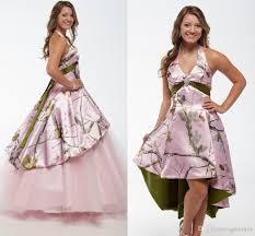 discount vintage boho pink camo wedding dresses with detachable