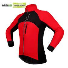 red waterproof cycling jacket popular winter windproof fleece warm thermal jacket bike buy cheap