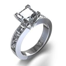 preset engagement rings 0 95ct pre set princess cut engagement ring odba