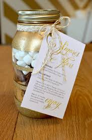smores wedding favors s mores bars in diy glitter jars