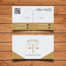 Lawyer Business Card Design Elegant Lawyer Business Card Vector Free Download