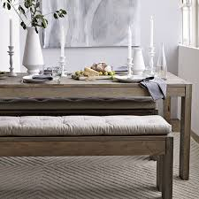 How To Make A Picnic Table Bench Cover by Tufted Dining Bench Cushion West Elm