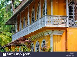 Colonial Homes India Goa Colonial Homes Stock Photo Royalty Free Image 94735047